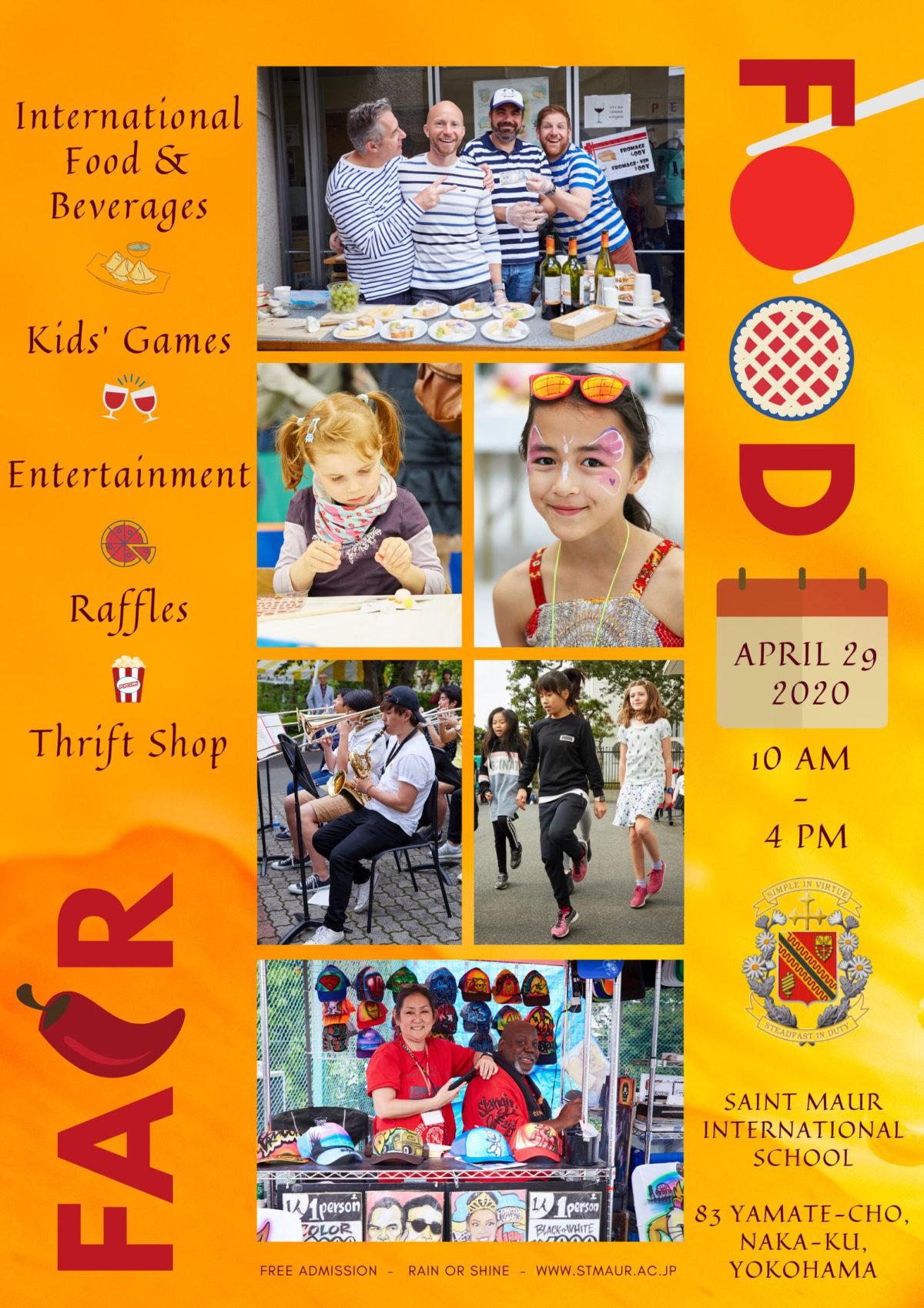 2020年4月29日(水祝) Food Fair(フードフェア)@サンモールインターナショナルスクール【中止】